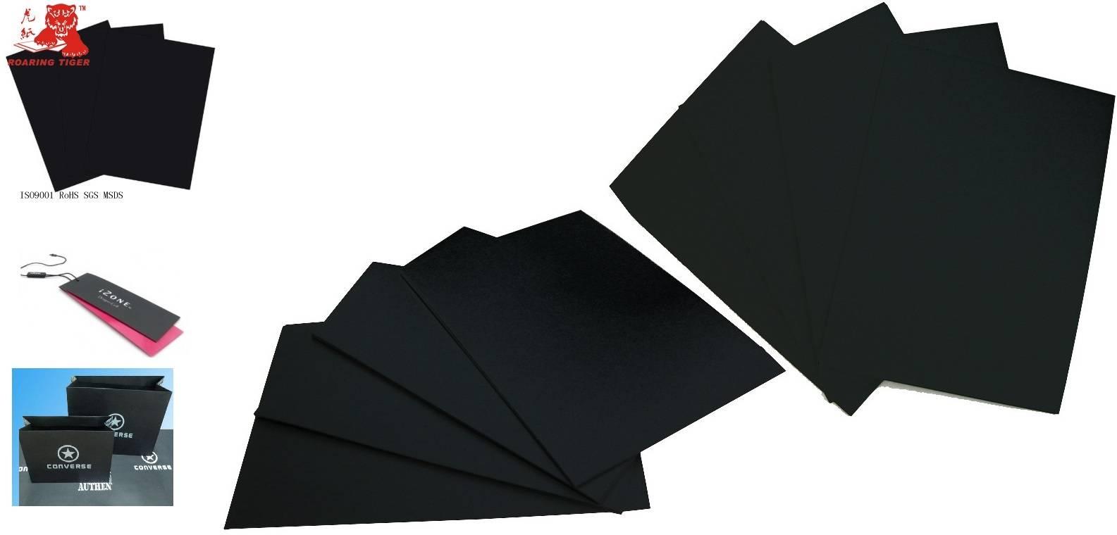 Laminated 1000gsm black paperboard/1100gsm cardboard paper/1200gsm paper board/1300gsm black card/14