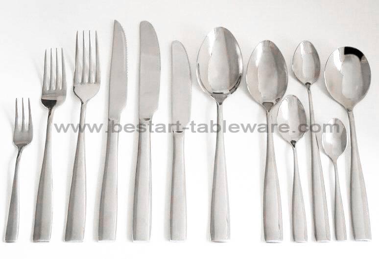 Eco-friendly mirror polish stainless steel hotel restaurant cutlery set