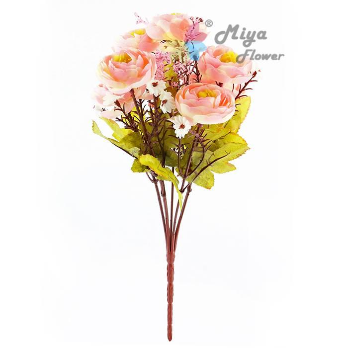 7 branches decorative artificial silk flower Autumn Camellia