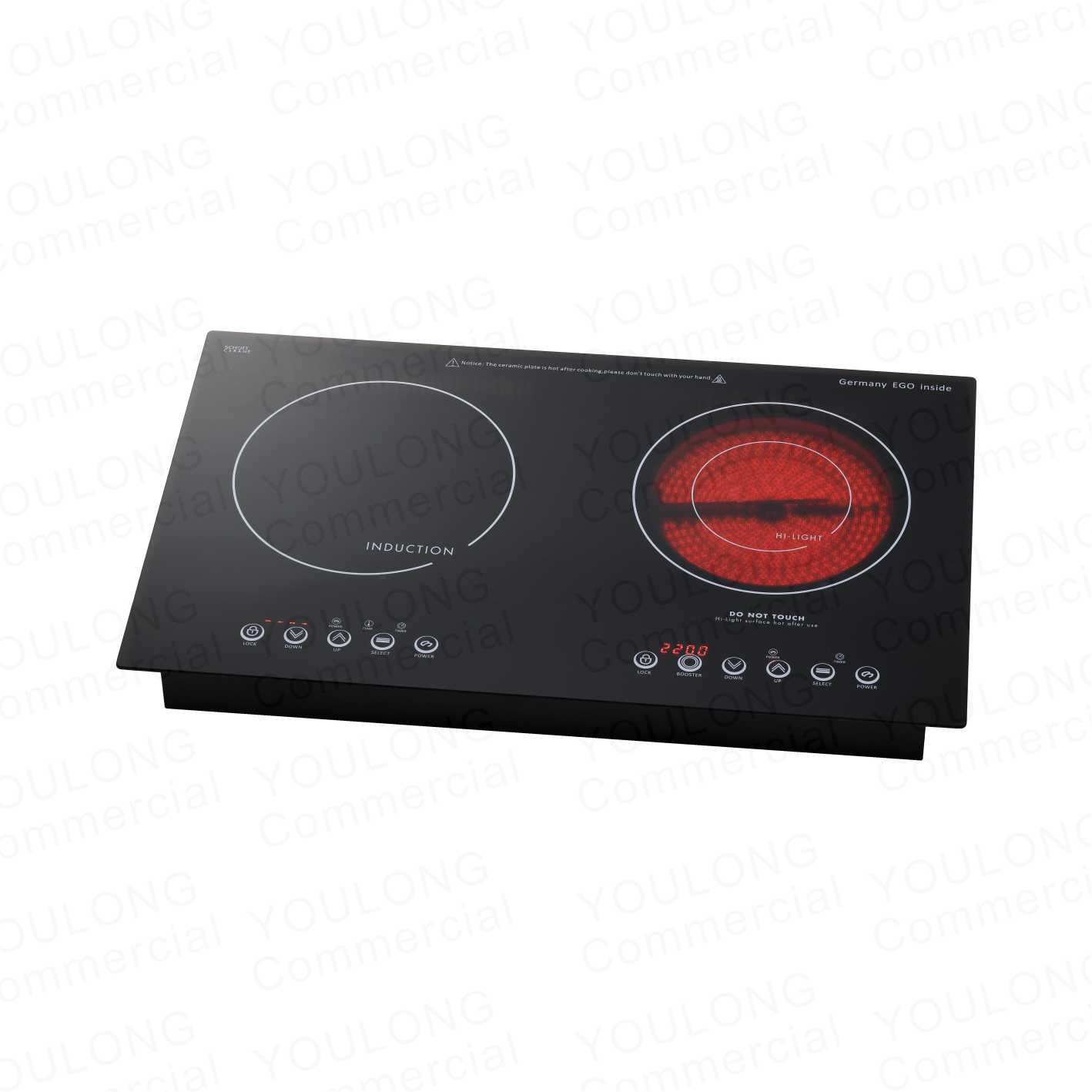 DIT-400(2)Mix induction and Ceramic hob