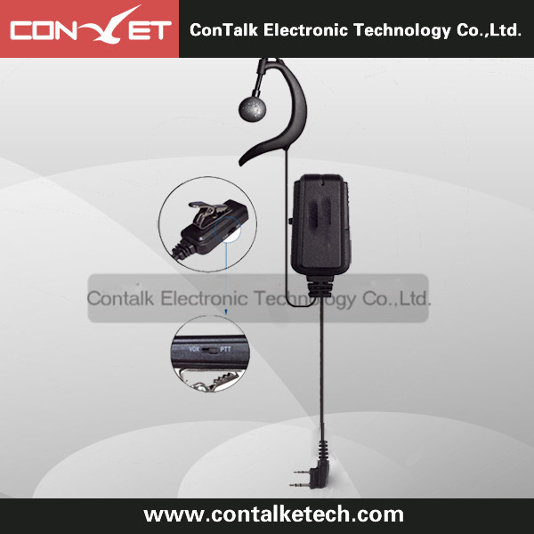 Advanced G Shape Police Earpiece Headset PTT Mic VOX for 2-pin Motorola Kensood Radio
