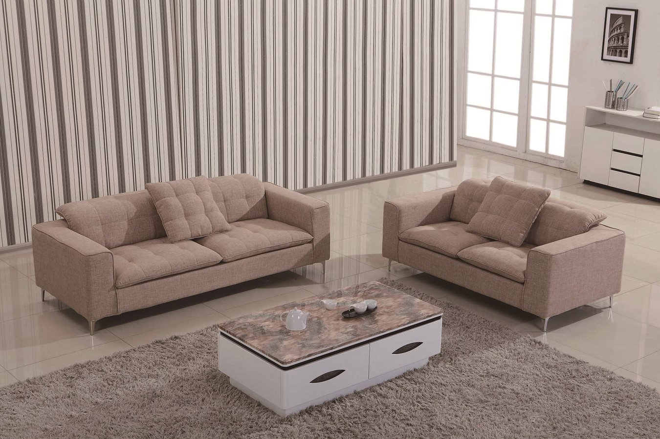 2017 Lizz Furniture Sectional Fabric Sofa