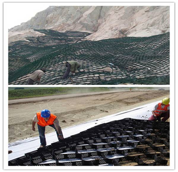 geocell for retaining wall