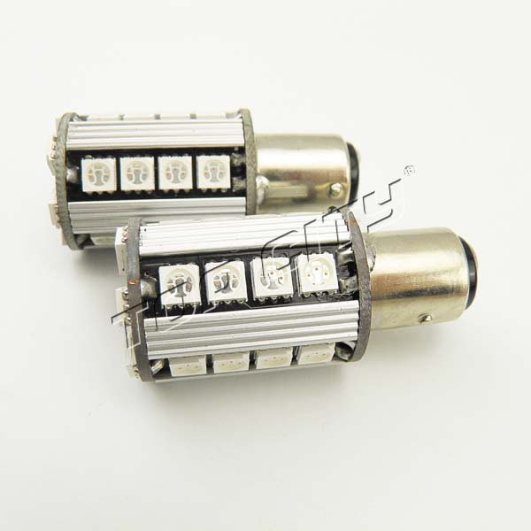 Amber color from Topcity manufacturer 12V 1156 27SMD 5050 Canbus Amber car led lamp bulbs