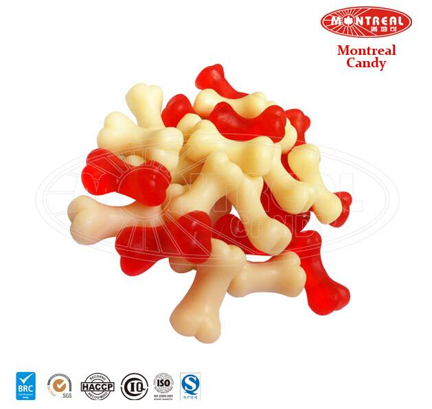 Red & White funny gummy bone candy