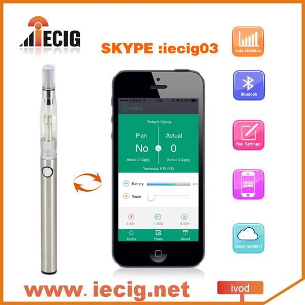 bluetooth e cigarette IVOD remote control by smart phone