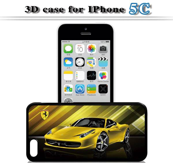 For iphone 5/5C/5S 3D cell phone case,low price and high quality