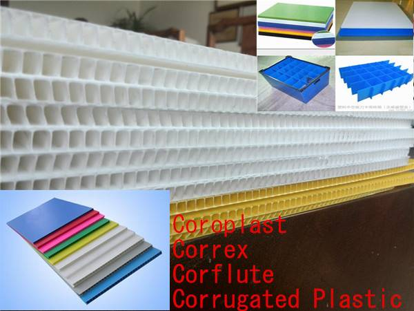 Corrugated plastic sheet,Coroplast,Correx,Corflute sheet
