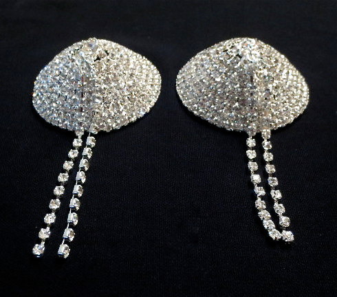 Rhinestone nipple cover body Pasties lingerie jewelry burlesque wedding bridal