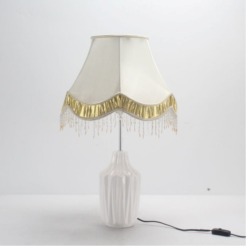 Table Lamp with Fringe Shade