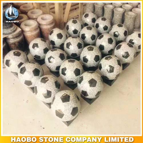 Football Shape Stone Carvings Soccer Design