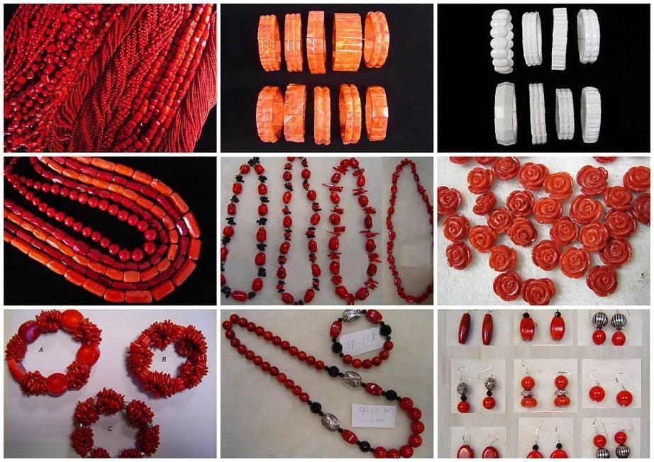 Coral Jewelry,Beads,Flower,Necklace,Bracelet,Earring