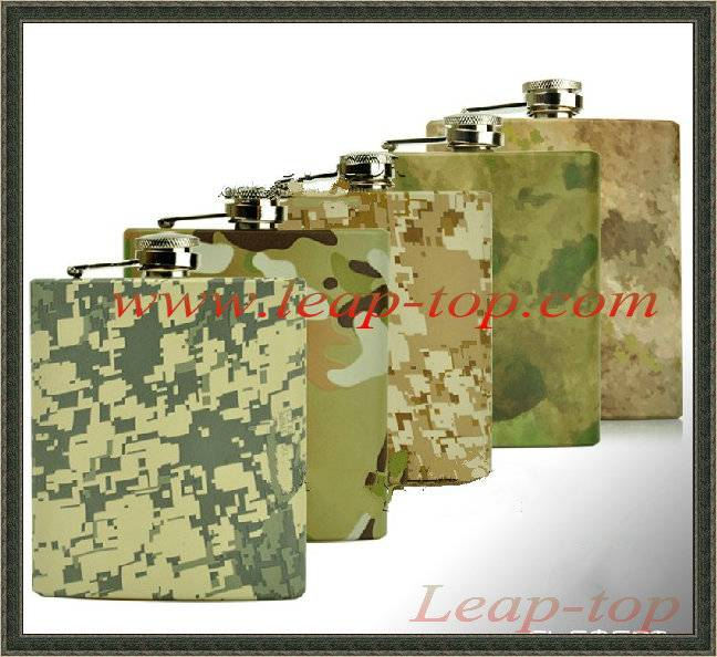 Camouflage hip flask Outdoor sports hip flask