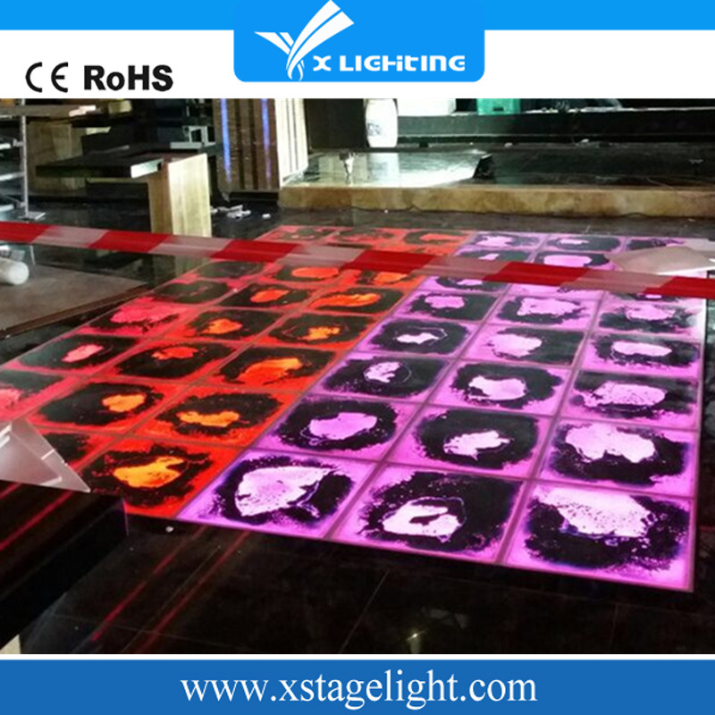 Economic and Reliable multi-color led liquid dance floor with great comfort