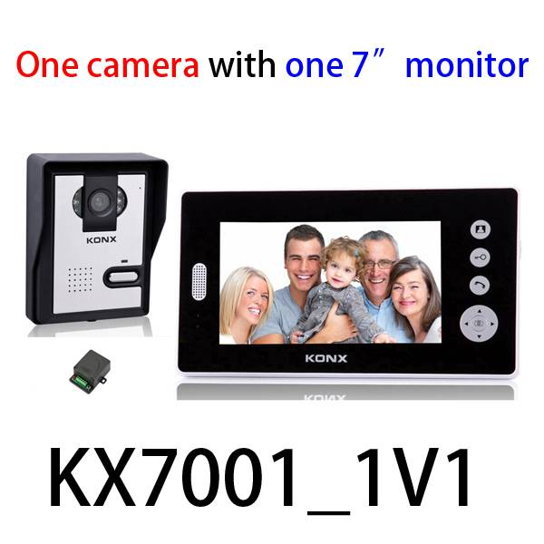 7 inch 2.4GHz digital wireless video door phone with 500 meters transmission distance in open area