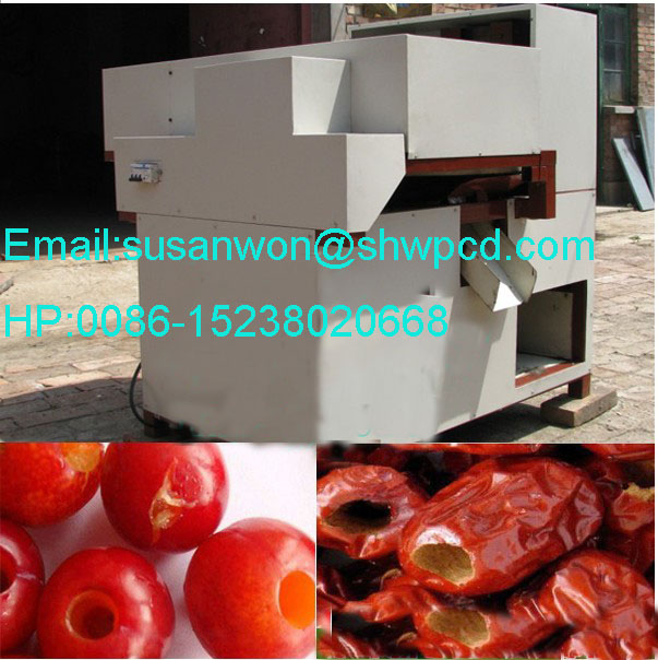 Sale date palm or red date pitting machine Mobile 0086-15238020668