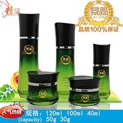 Guangzhou factory supply cosmetic packing glass bottles or jars,skin tonner water and emulsion sunsc