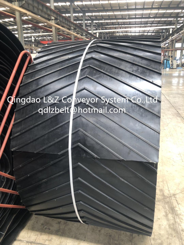 anti-skid checron rubber conveyor belt