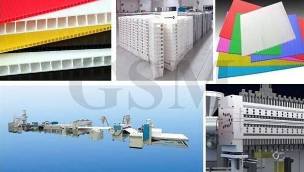 Polypropylene corrugate sheet line