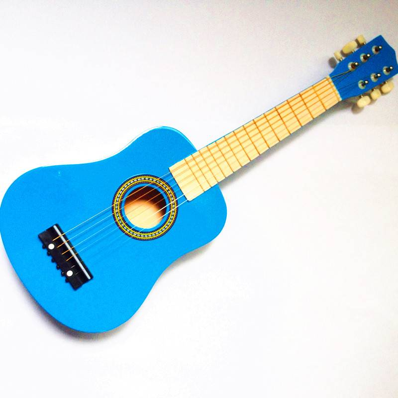 6 strings 25 inches Acoustic Wooden Guitar toy for sale
