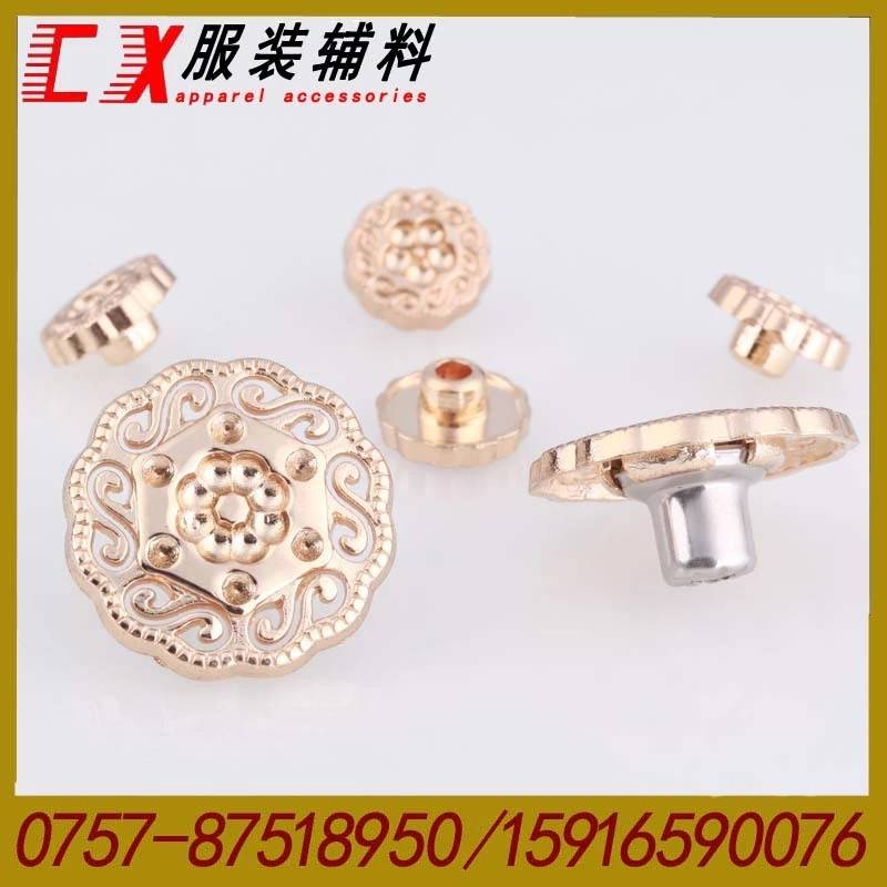 Hot!20mm Anti Brass With Brush Fashion embossed Jeans Button in Brass