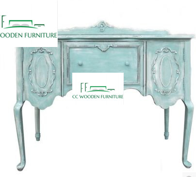 Classical French style wood cabinet vanity base