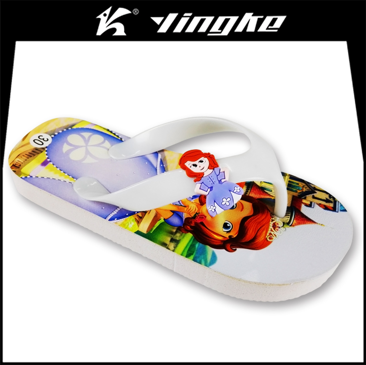 Factory summer custom printed all kinds of slippers kids wholesale flip flops cheap