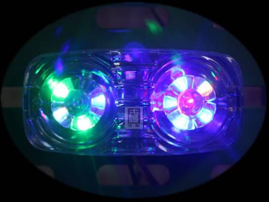 12v 24v Qiongli truck trailer LED double bull eyes marker clearance lamp