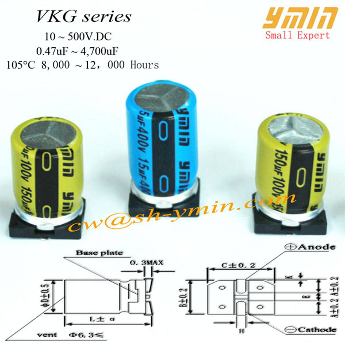 Standard Electrolytic SMD Capacitor SMD Capacitor for Lighting and General Purpose