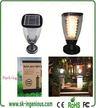 Ip65 Decorative Led Solar Lights Outdoor,Garden Pillar Lamp