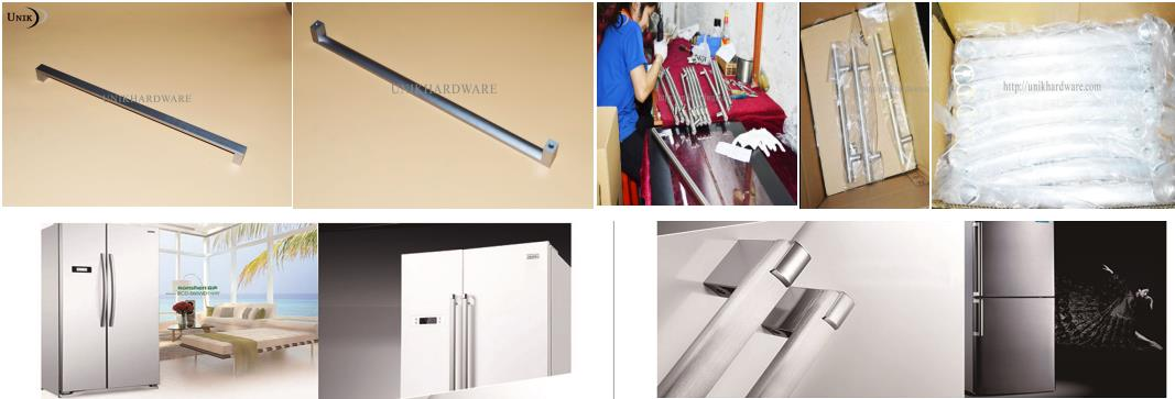 Fashionable modern u shaped commercial glass pull handle / push pull handle