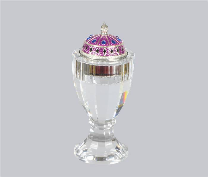 crystal incense burner with high quality metal tray