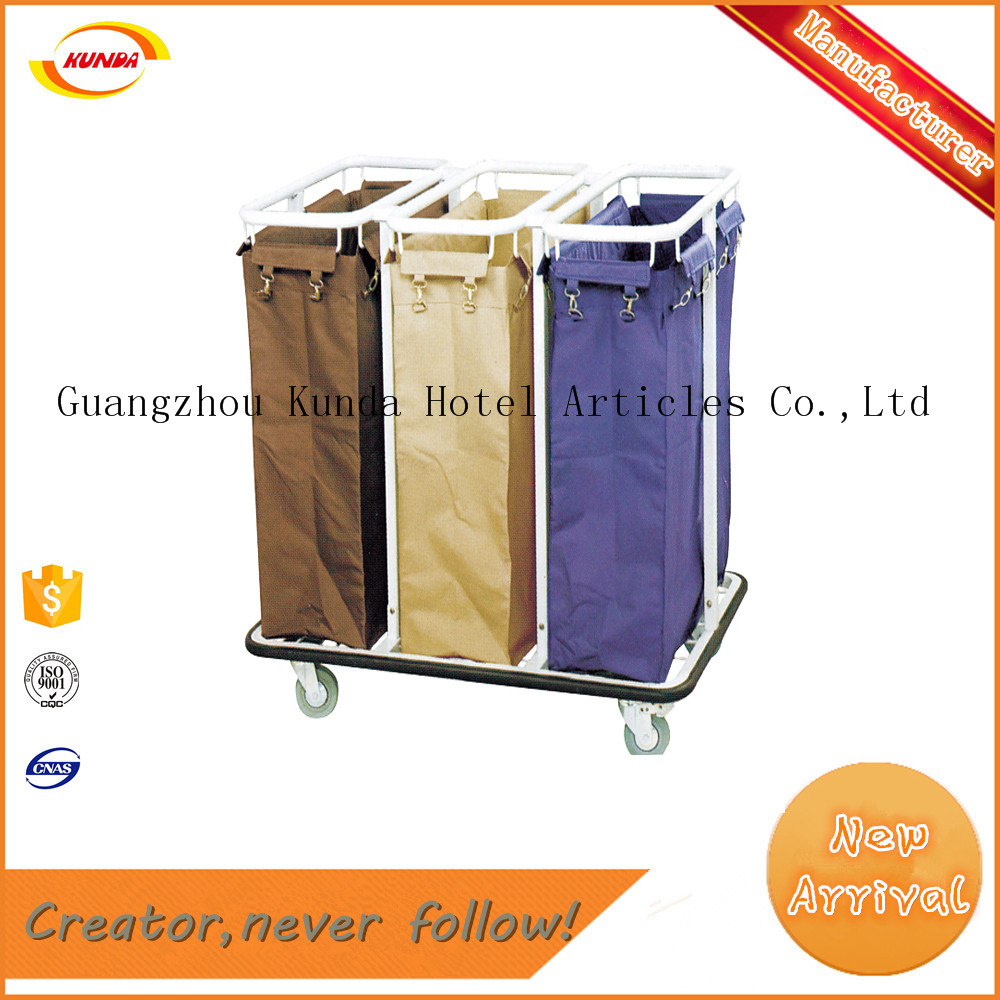 practical durable stainless steel launtry trolley launtry cart cleaning cart Kunda C-053