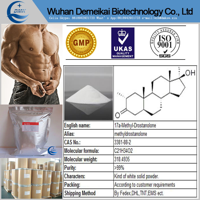 Gain Muscle 17a-Methyl-Drostanolone Superdrol powder with high quality 3381-88-2