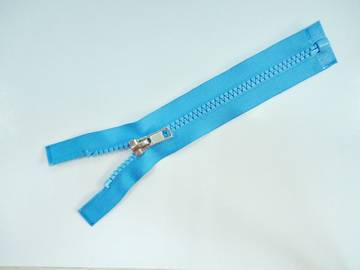 5#Plastic open end zipper with auto lock slider