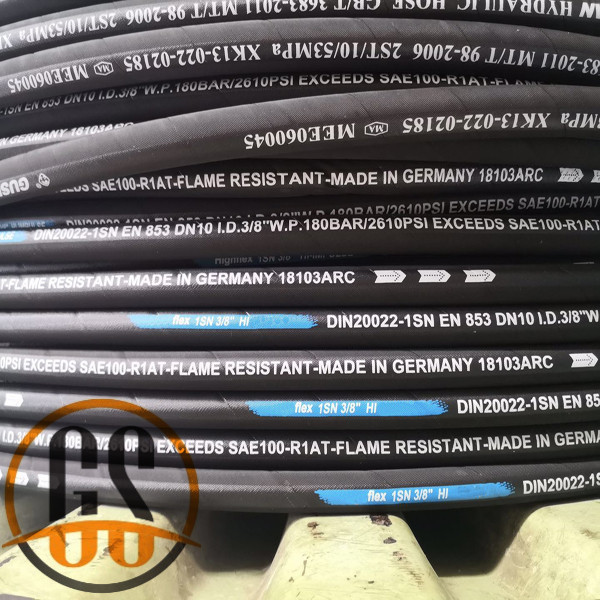SAE J517 100 R1AT hydraulic rubber hose