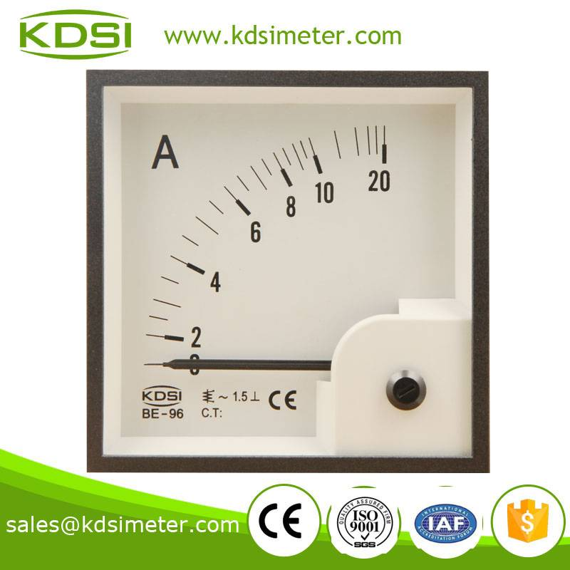 CE certificate square type BE-96 AC10A analog ac ampere meter