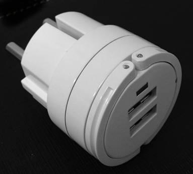 5V 2.1A twin USB port Eu plug travel charger for iPad/iPhone/iPod