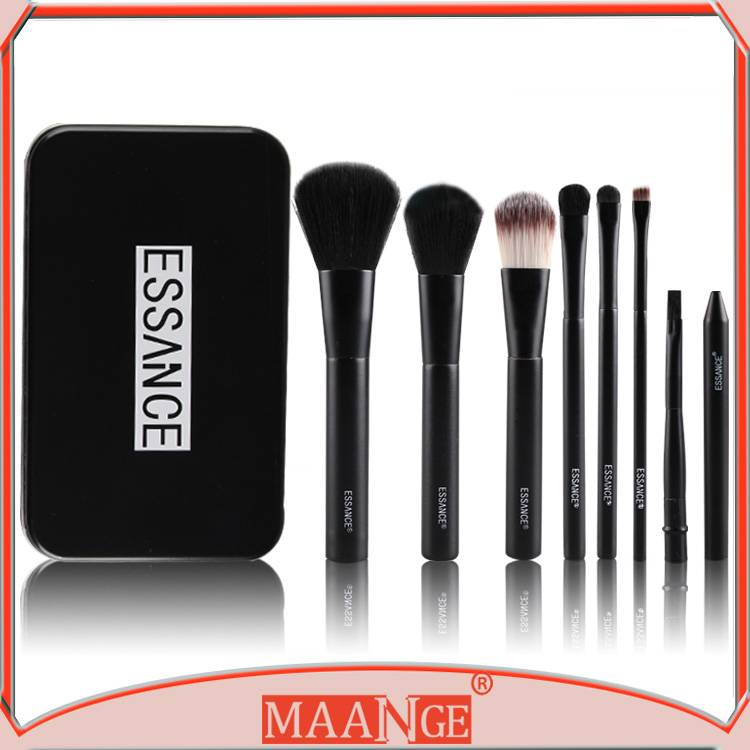MAANGE 7 piece face use cosmetic brushes kits with nylon hair