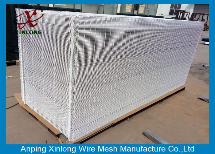 Supermarket Pure White Economy 3D Wire Mesh Fence