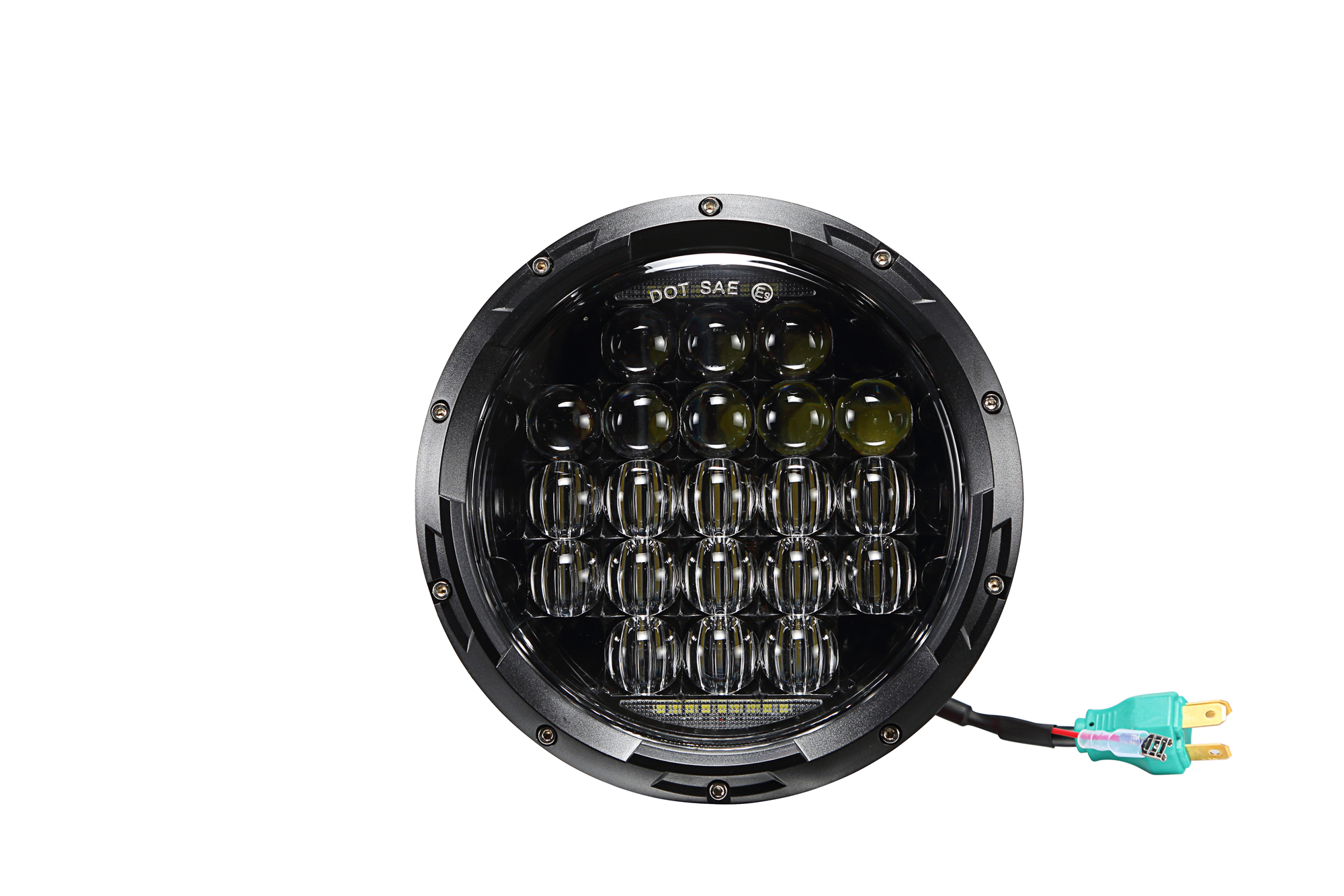 "New auto part H/L beam double reflection led headlight round 7"" led headlight for jeep or motorcycle"