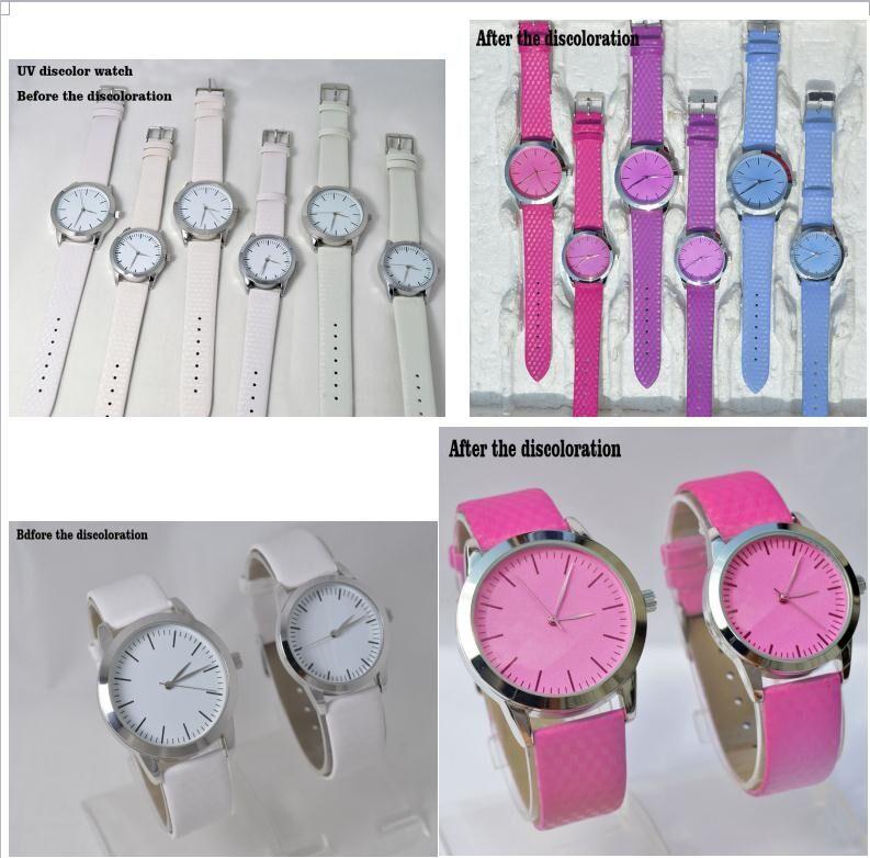 Temperature sensitive photosensitive watch, UV color change watch, ultraviolet photosensitive watch
