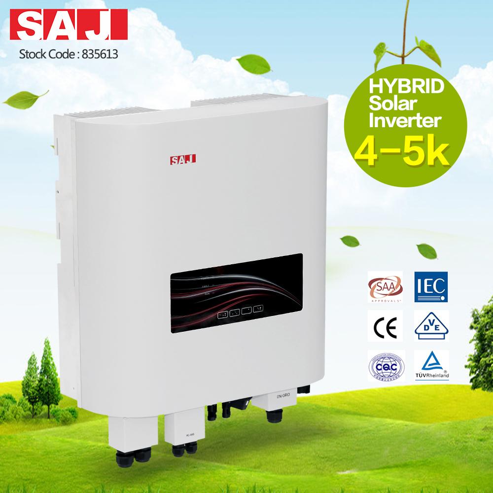 SAJ 4kw 4000w single phase hybrid solar inverter with high performance UPS backup output