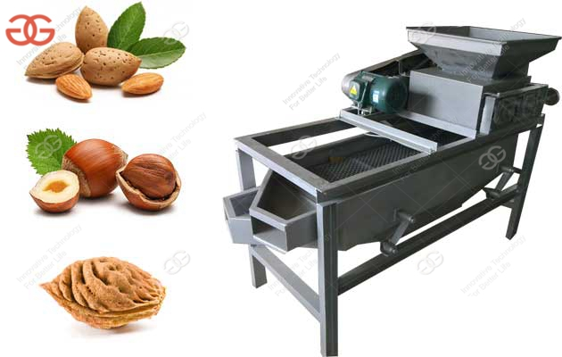 Commercial Almond Shell Cracking Machine Single Stage