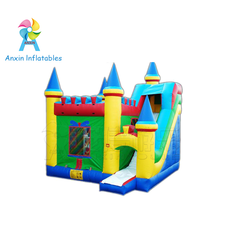 backyard inflatable bouncy castle with slide for children jumping games