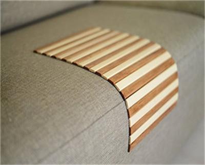 Laser cut wood sofa arm table