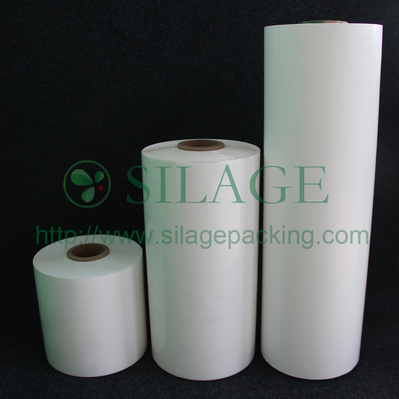 White Color, 500mm25mic1800m, 100%LLDPE, High Stretching Plastic Film for Packing Grass