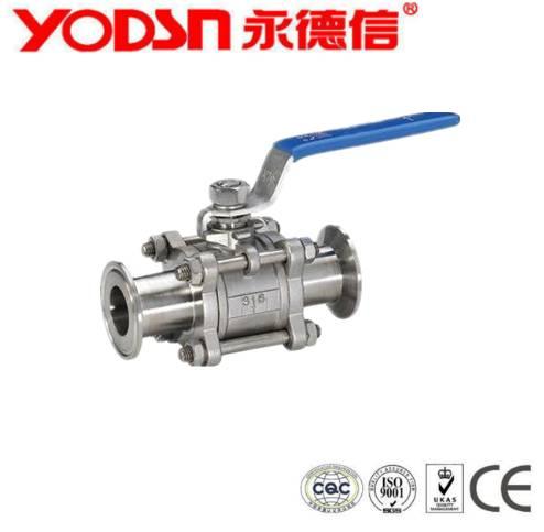 Stainless Steel Dairy  Sanitary 3 PC ball valve
