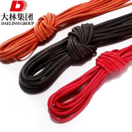 customeried wholesale High quality shoelaces round wax rope