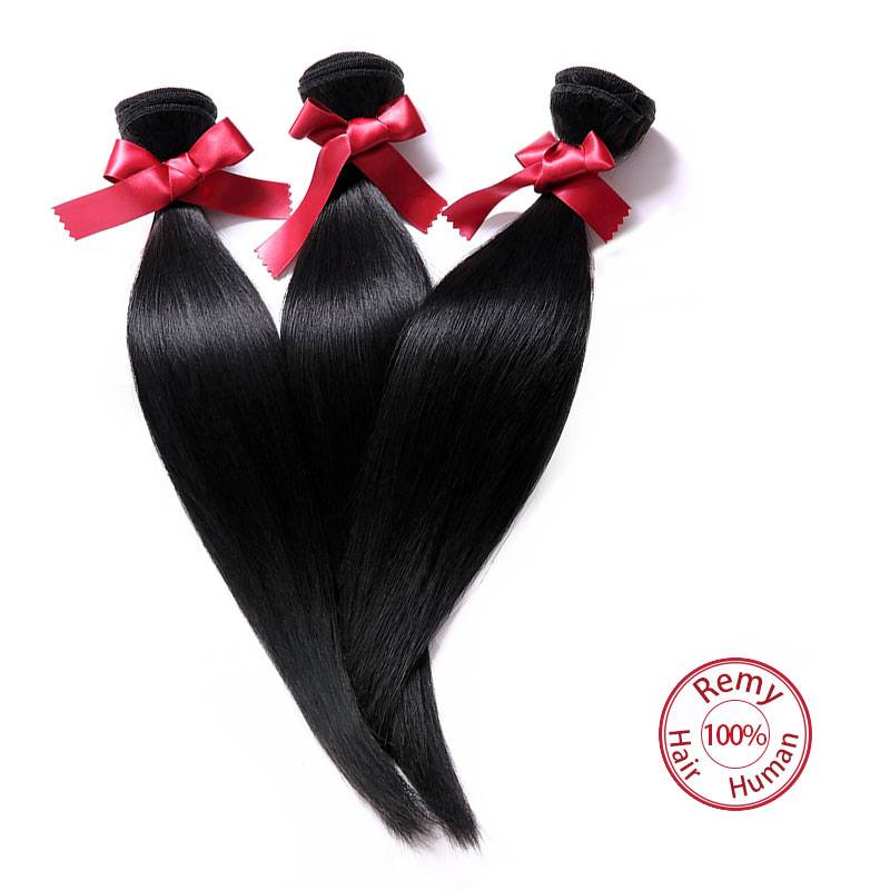 EVET Hair Brazilian Virgin Hair Silky Straight Weave